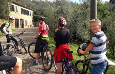 Mountainbike tur i området ved Vinci