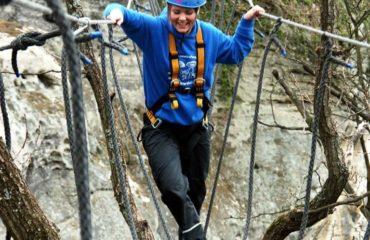 Rappelling - High Rope Bridging