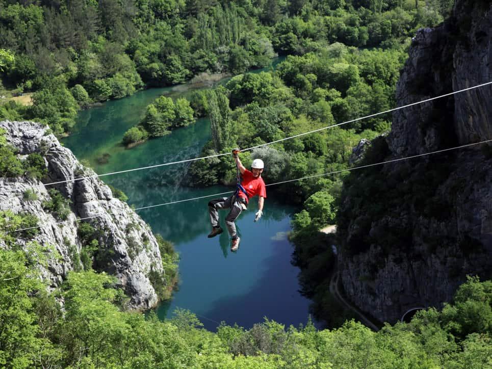 Kroatien zipline