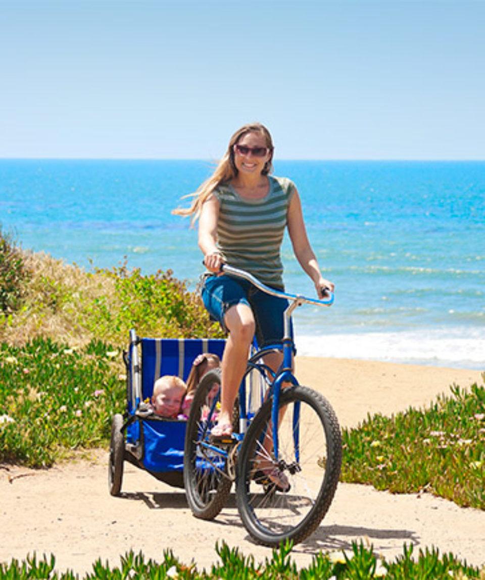 cykel på stranden bornholm
