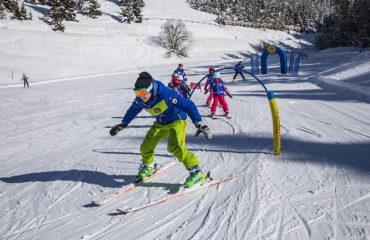 Leg og sjov på skiskolen