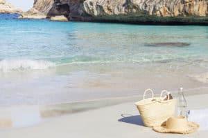 Skønne strande på Middelhavsøen