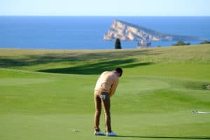Golfbanen i Benidorm