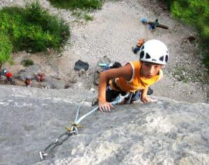 Bjergklatring - Familie adventure ferie i Slovenien