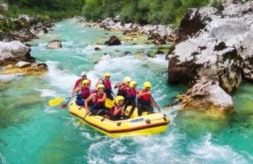 Rafting - Slovenien familie adventure ferie